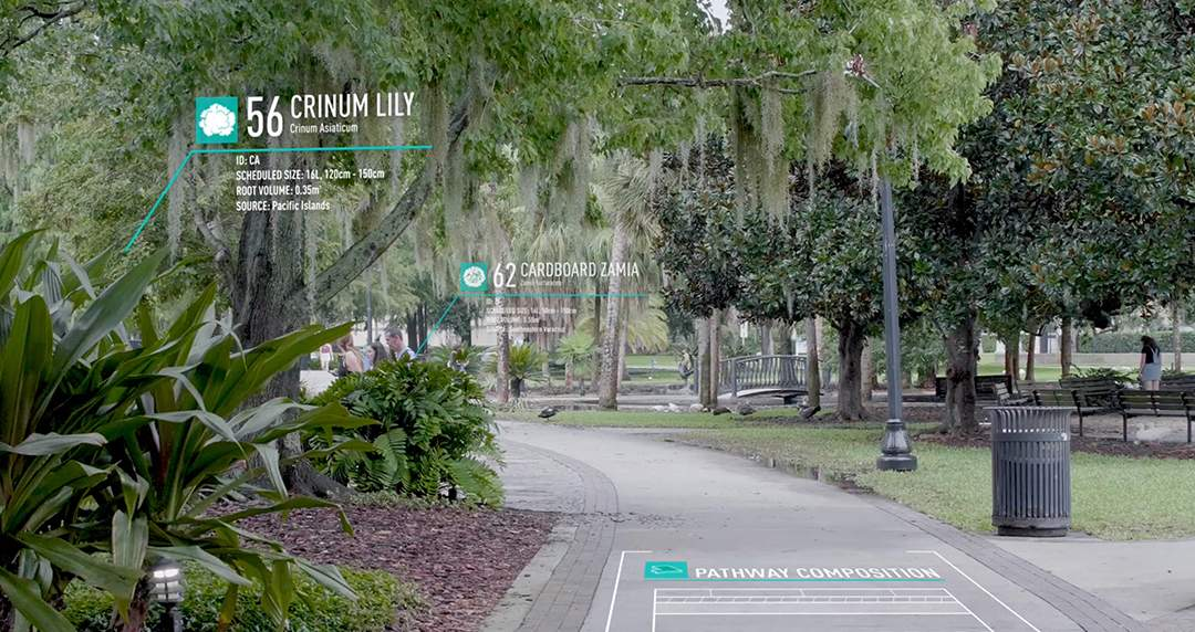 BIM data within landscape architecture project in Florida