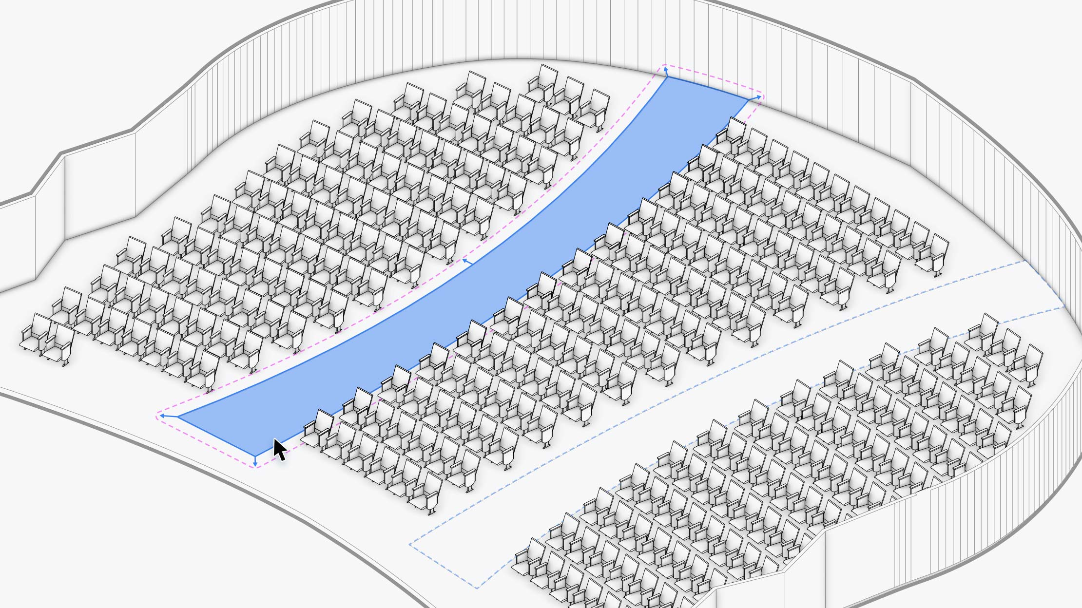 Detailed Seating Sections